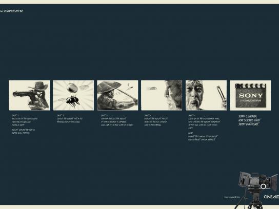 Sony Print Ad -  Storyboard Gunslinger
