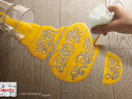 Sopalin Print Ad -  The art of cleaning, 1