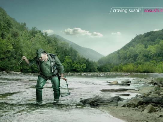 Sosushi Print Ad -  Fisherman