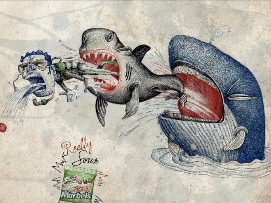 Sour Marbels Print Ad -  Diver