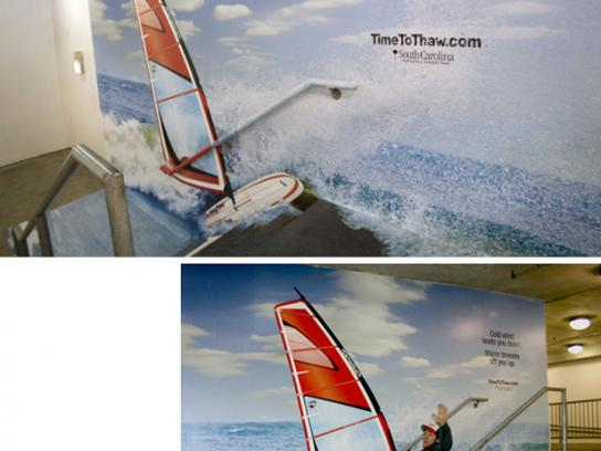 South Carolina Tourism Ambient Ad -  Windsurf