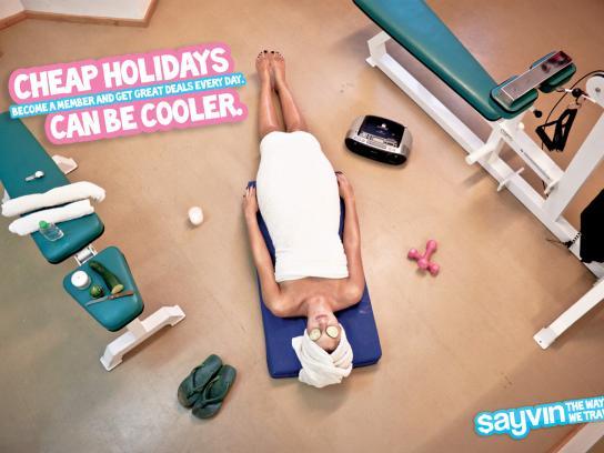 Sayvin Print Ad -  Spa
