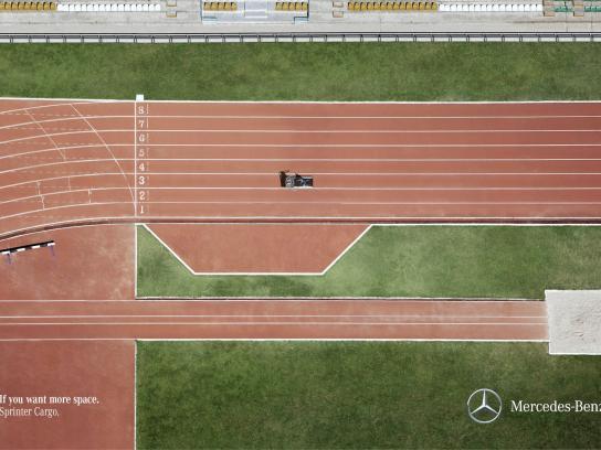 Mercedes Print Ad -  Run