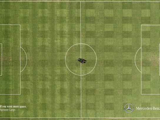 Mercedes Print Ad -  Soccer