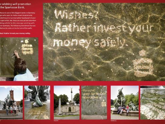 Sparkasse Ambient Ad -  Wishing well