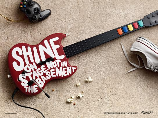 Sparrow Guitars Print Ad -  Shine