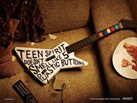 Sparrow Guitars Print Ad -  Teen spirit