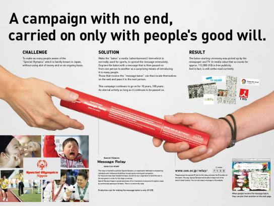 Special Olympics Ambient Ad -  Message relay