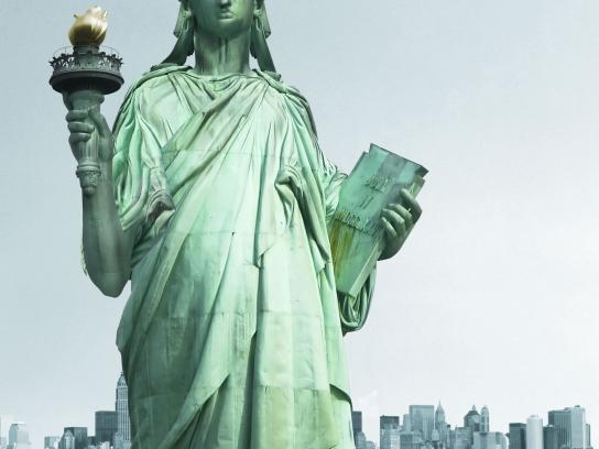 Speed Stick Print Ad -  Statue of Liberty