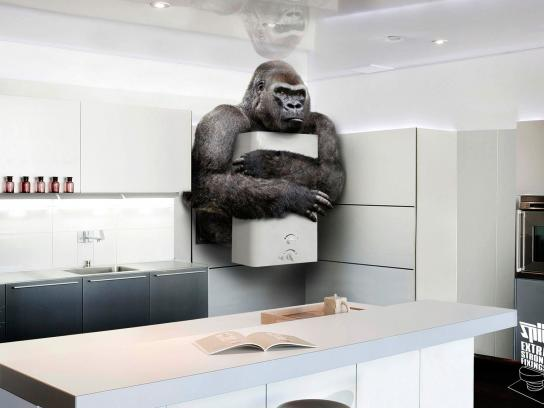 SPIT Extra Strong Fixings Print Ad -  Gorilla