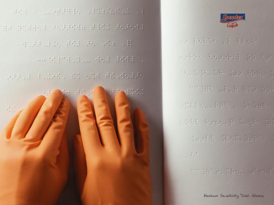 Spontex Print Ad -  Braille