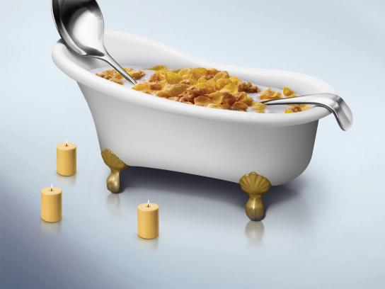 Post Honey Bunches Print Ad -  Spoon, 1