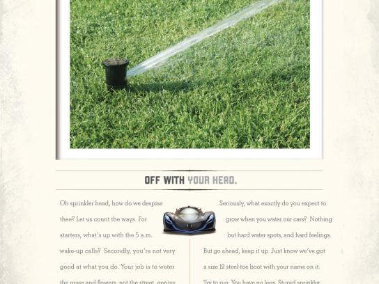 Mothers Car Polish Print Ad -  Sprinkler