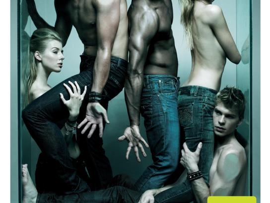Killer Jeans Print Ad -  Glass aquarium