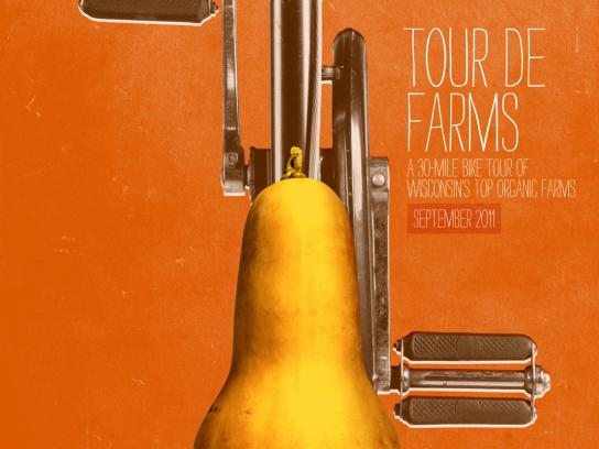 Braise Local Food Print Ad -  Tour de Farms, Squash Seat