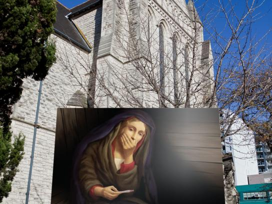 St Matthew-in-the-City Outdoor Ad -  Mary Christmas