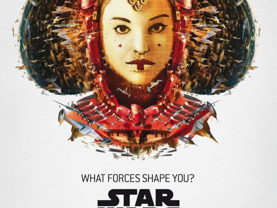 Star Wars Outdoor Ad -  The Exhibition, Amidala