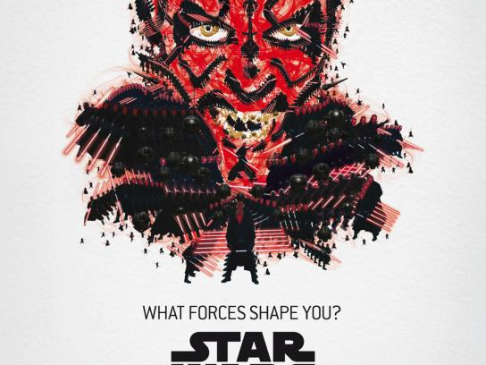 Star Wars Outdoor Ad -  The Exhibition, Darth Maul