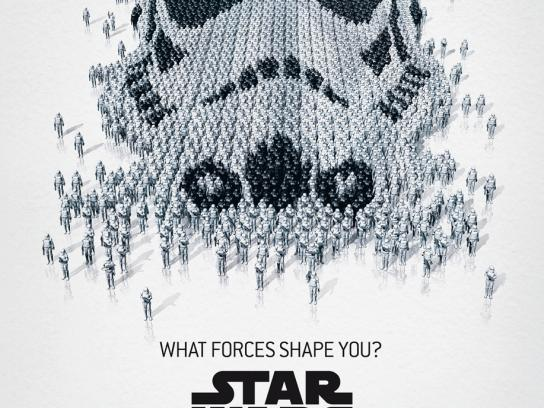 Star Wars Outdoor Ad -  The Exhibition, Trooper