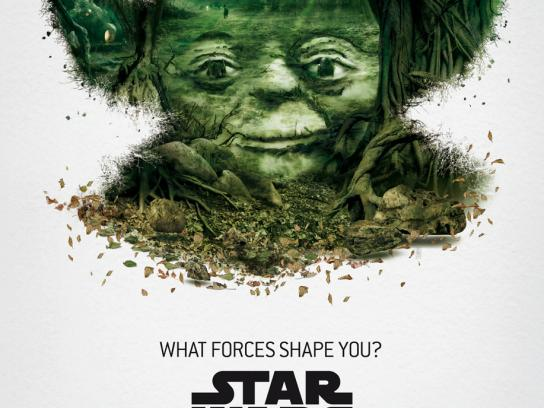 Star Wars Outdoor Ad -  The Exhibition, Yoda
