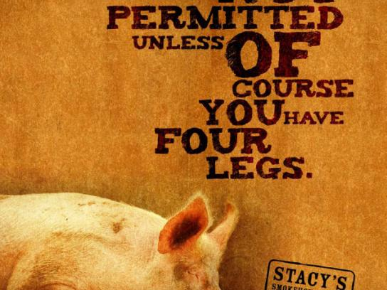 Stacy's Print Ad -  Pig