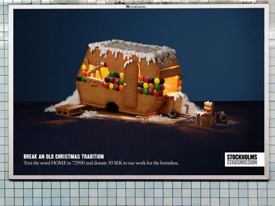 Stockholms Stadsmission Outdoor Ad -  Break an old Christmas Tradition, Trailer