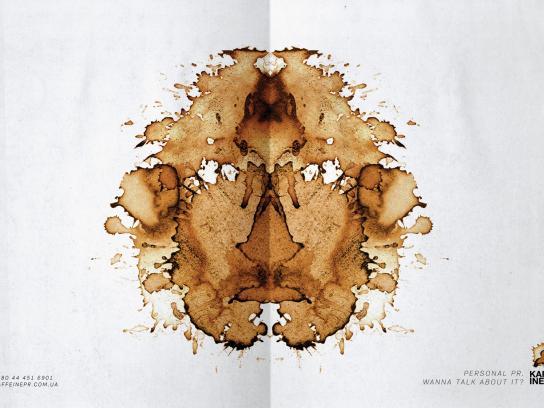 Kaffeine Print Ad -  Face