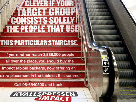 Kvällspressen Impact Outdoor Ad -  A really unalternative media, Stairs