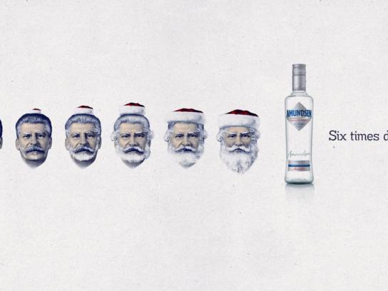 Amundsen Vodka Print Ad -  Stalinclaus