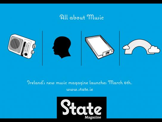 State Print Ad -  All about music, 1