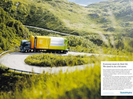 StatoilHydro Print Ad -  Truck
