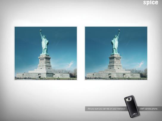 Spice Print Ad -  Statue of Liberty