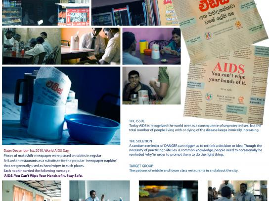 The Family Planning Association of Sri Lanka Direct Ad -  Newspaper napkins