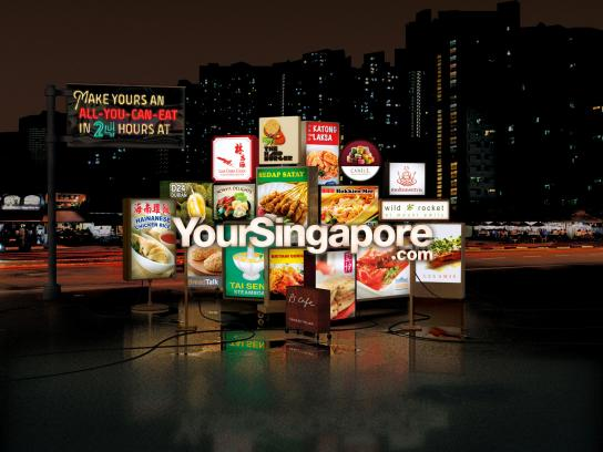 Singapore Tourism Board Print Ad -  Lightboxes