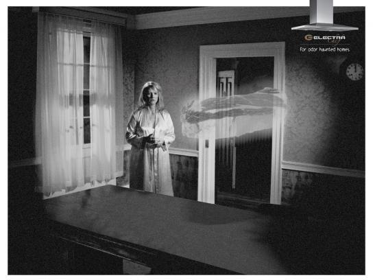 Electra Print Ad -  Haunted homes, Steak