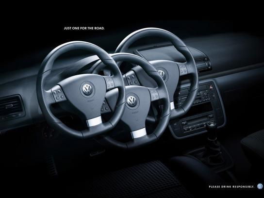 Volkswagen Print Ad -  Steering wheels