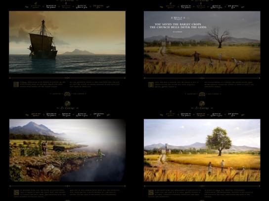 Cinematic website
