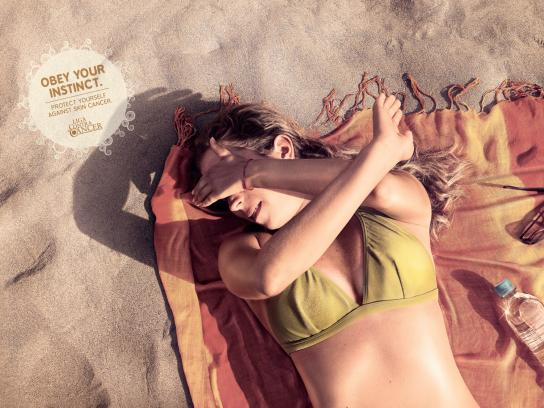 Liga Contra el Cancer Print Ad -  Stephanie