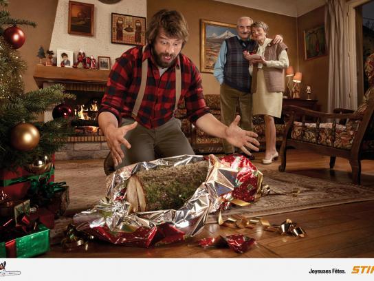 Stihl Print Ad -  Happy Christmas