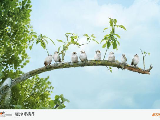 Stihl Print Ad -  Birds