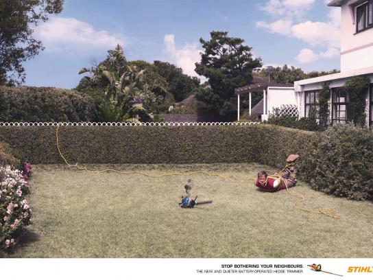 Stihl Print Ad -  Neighbours, Cable