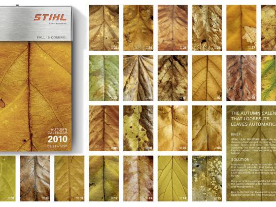 Stihl Direct Ad -  Autumn calendar