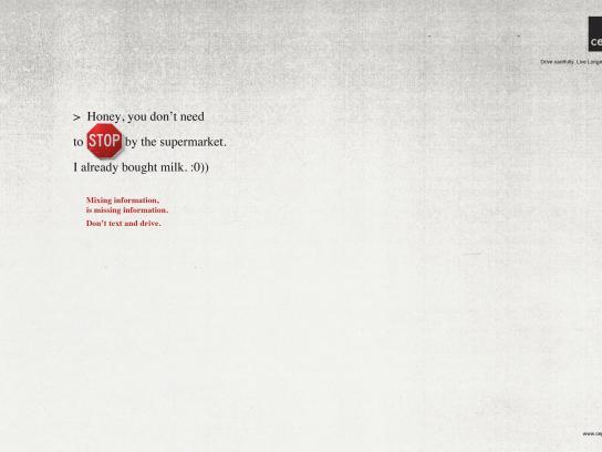 Cepia Print Ad -  Stop