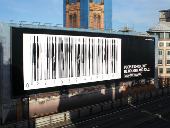 Stop the Traffik Outdoor Ad -  Barcode