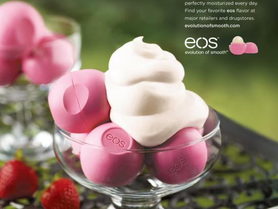 EOS Lip Balm Print Ad -  Strawberry Cream