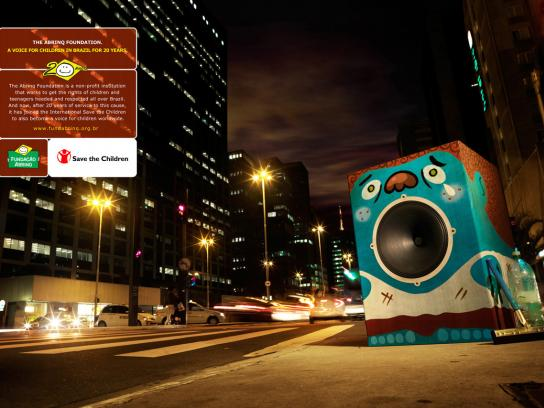 Abrinq Print Ad -  The Voice of Children in Brazil, Street