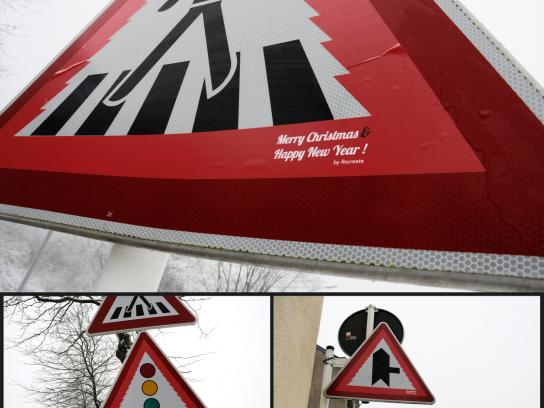 Recreate Ambient Ad -  Xmas road signs