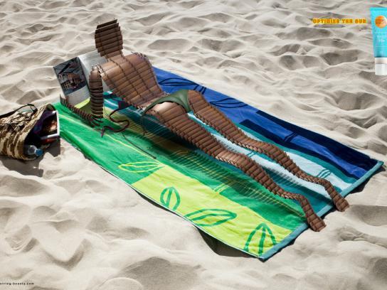 String Beauty Print Ad -  Optimize the sun, 2