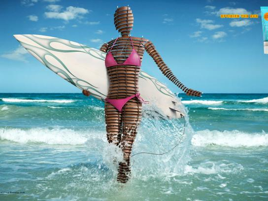 String Beauty Print Ad -  Optimize the sun