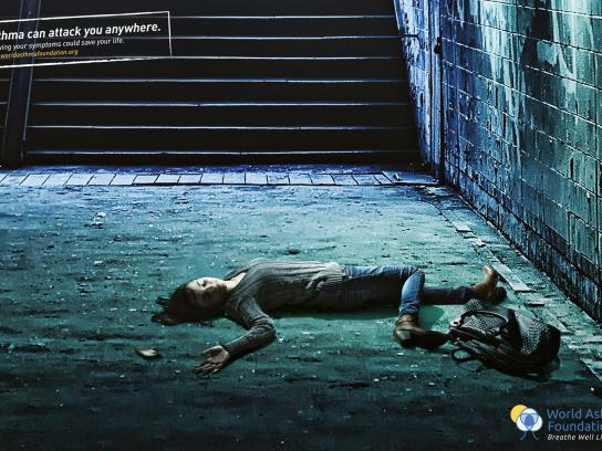 World Asthma Foundation Print Ad -  Subway